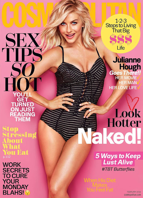 Actress, Singer, @ Julianne Hough - Cosmopolitan Magazine, February 2016