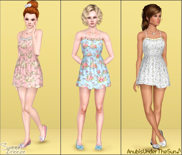 cute sims 3 things for you summer breeze collection dress necklace