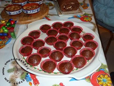 Queques de chocolate, Rum e Cranberries