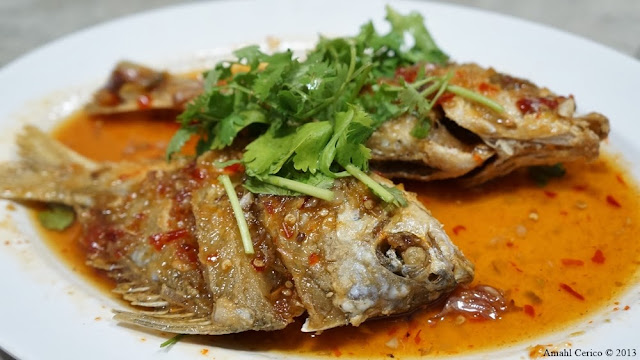 Fried Fish in Sweet Chili Sauce.