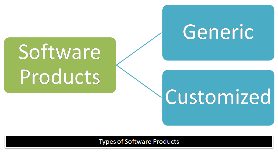 What are the types of software products?