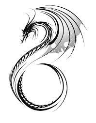 Motif Tato Naga Hitam Putih 12