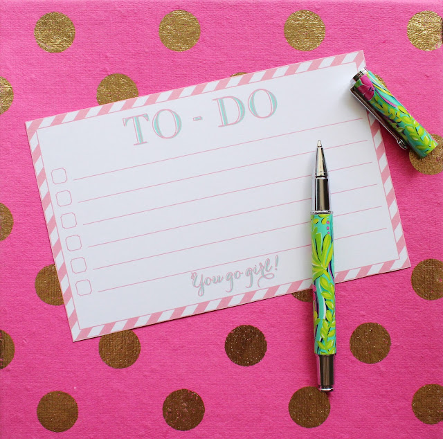 "Free Printable ""You Go-Girl"" To-Do List"