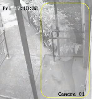 Fantasma é gravado por câmera