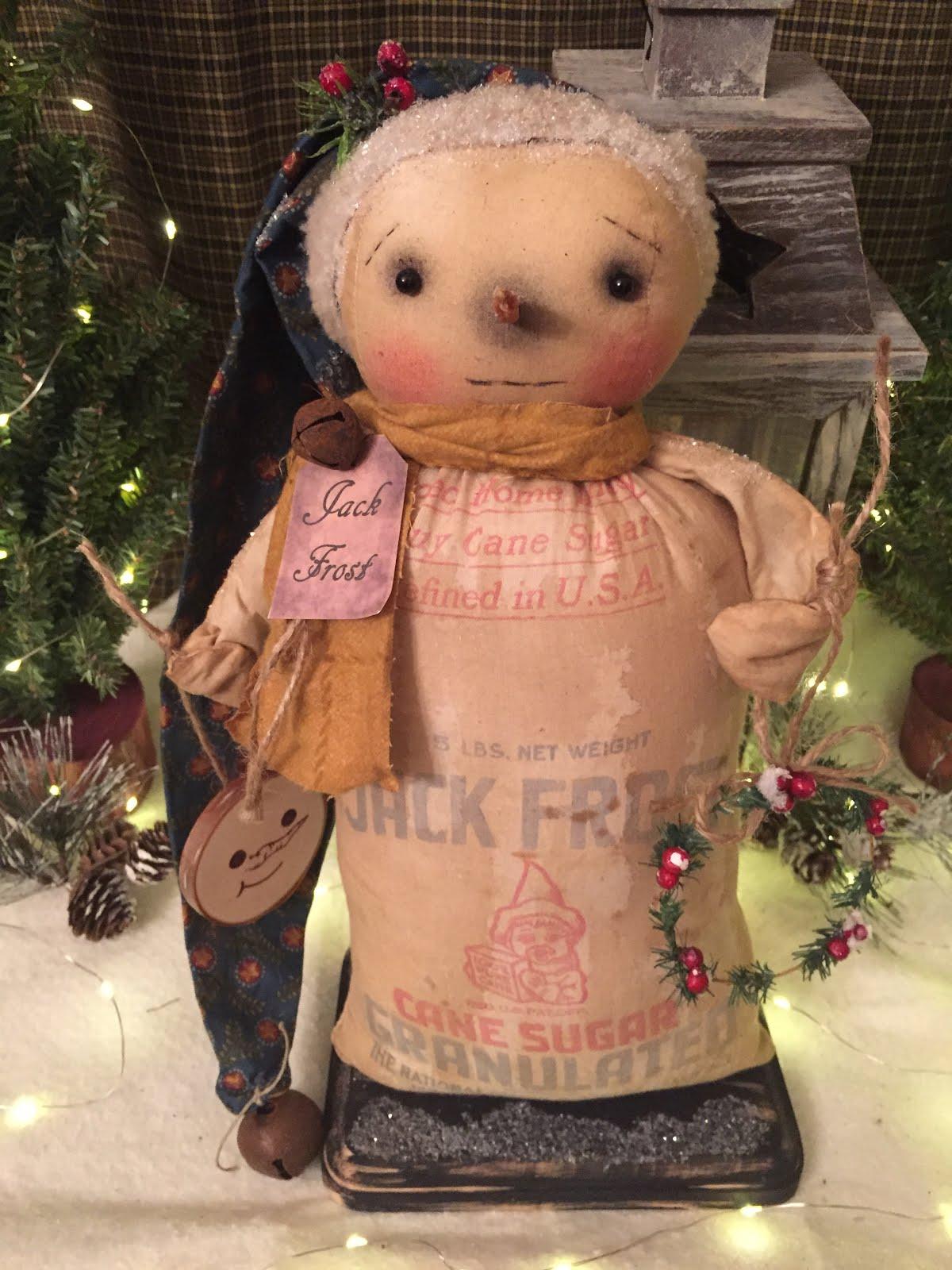 Jack Frost Vintage Sugar Sack Snowman