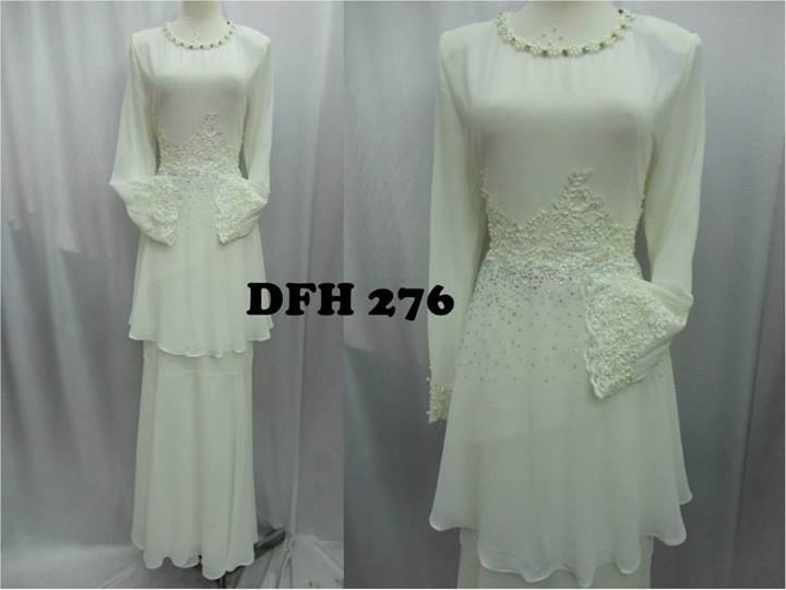 Baju Raya Putih Anne Nurain Usha Baju Raya Jom