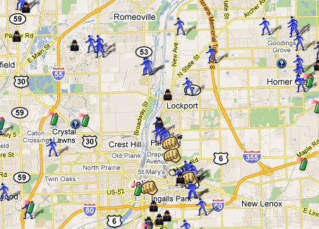 Will County IL Crime Map SpotCrime The Publics Crime Map - Baton rouge crime map