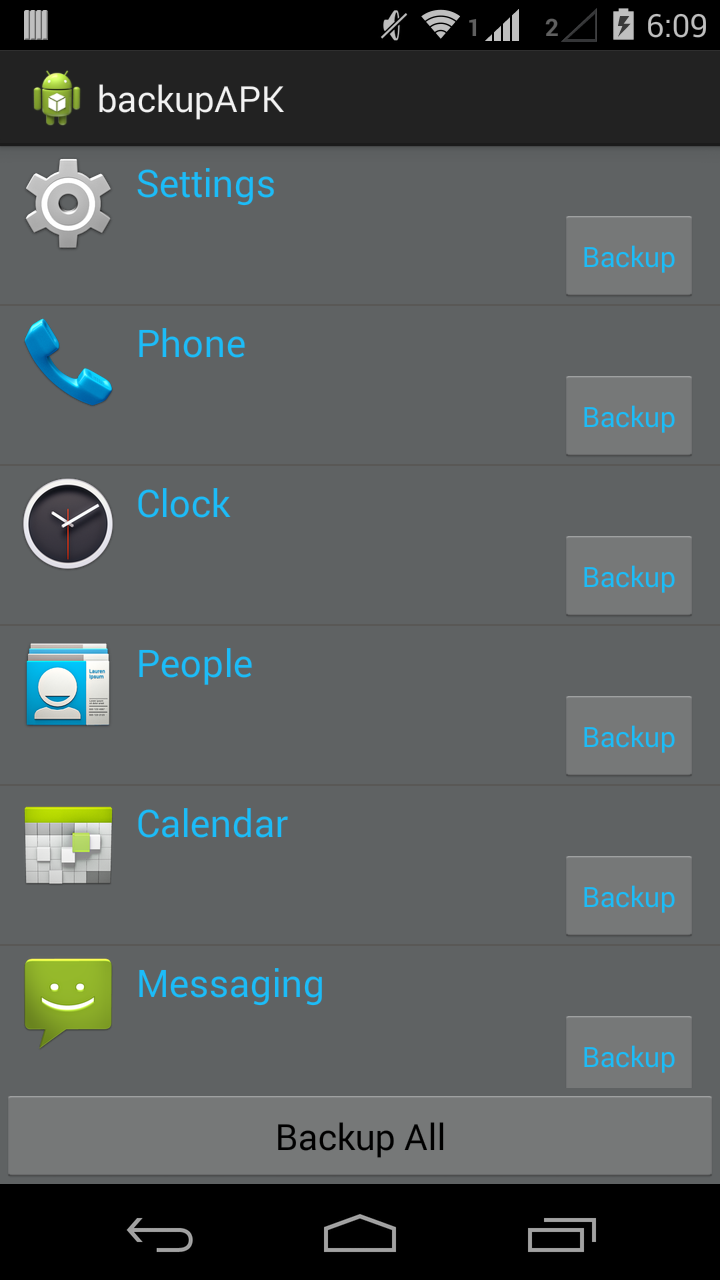 android beginning bunch backup apk installed application in android exle