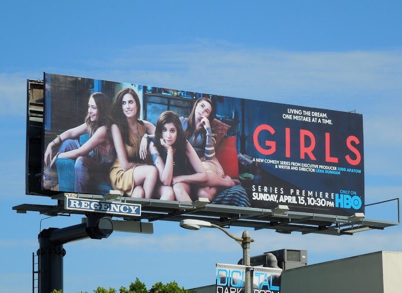 Girls season 1 HBO billboard