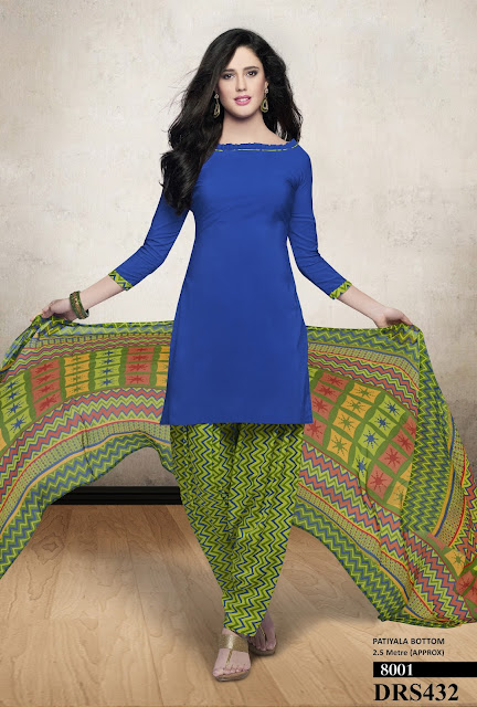 Purchase Chanderi Cotton Simple Dress Material