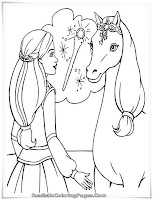 Printable Barbie And The Magic Of Pegasus Coloring Sheet
