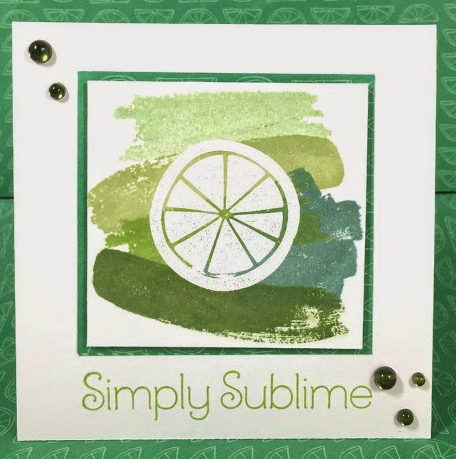 Lime Ombre card