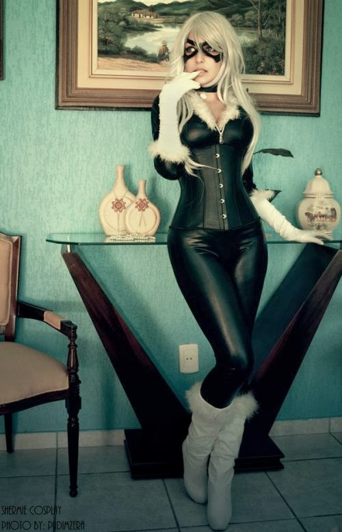 Gabriela Almeida Shermie deviantart cosplay beautiful girl games comics sensual Felicia Hardy, Black Cat (Spiderman)