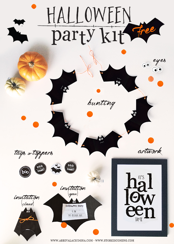free printable halloween party kit