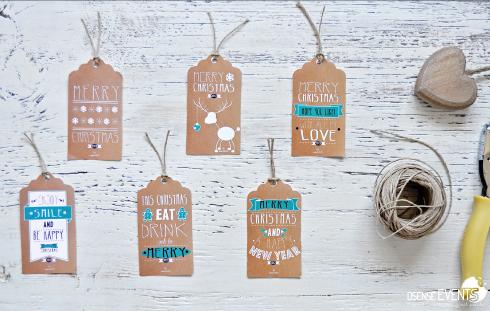 Kraft Christmas labels presents