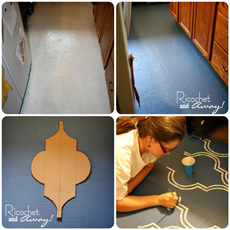 Ricochet and away i painted my vinyl floor for Latex primer for vinyl flooring
