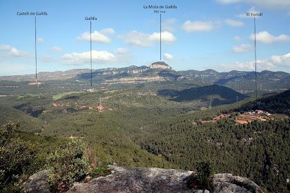 La Vall de Gallifa vista des del mirador