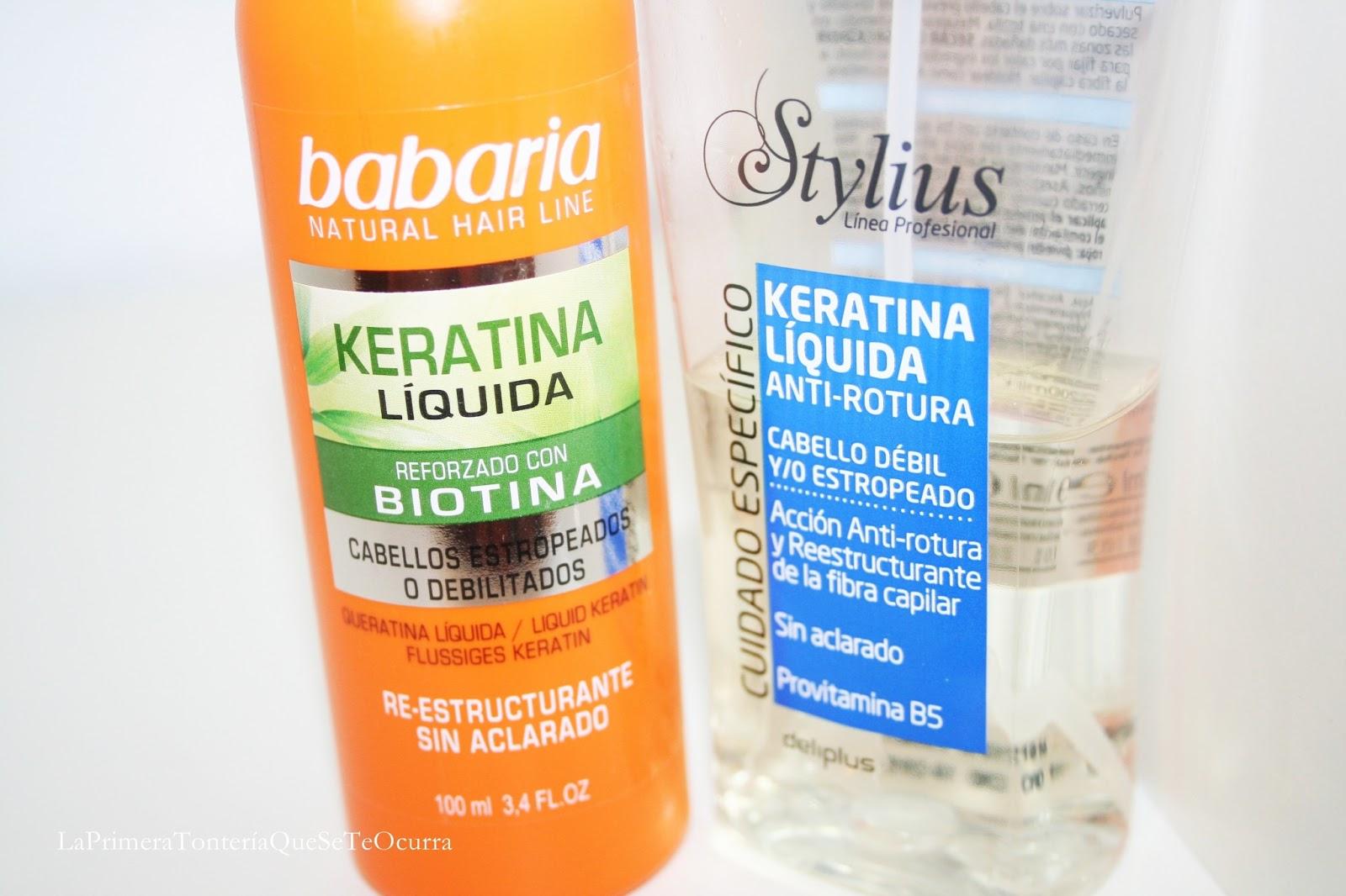 El objetivo de la keratina líquida es rellenar la fibra capilar, recomponer su estructura y mediante el calor (imprescindible usar secador!) sellar el