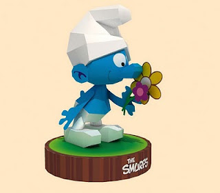 Smurfs Papercraft Model Free Download