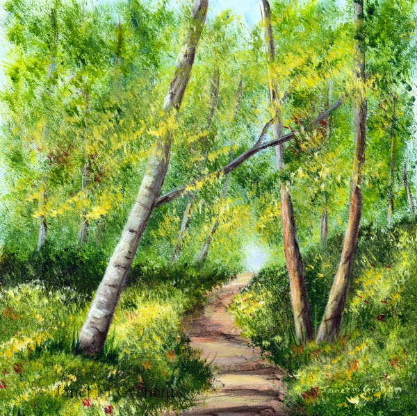 Janet m graham 39 s painting blog april 2015 for Painting a forest in acrylics