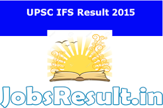 UPSC IFS Result 2015