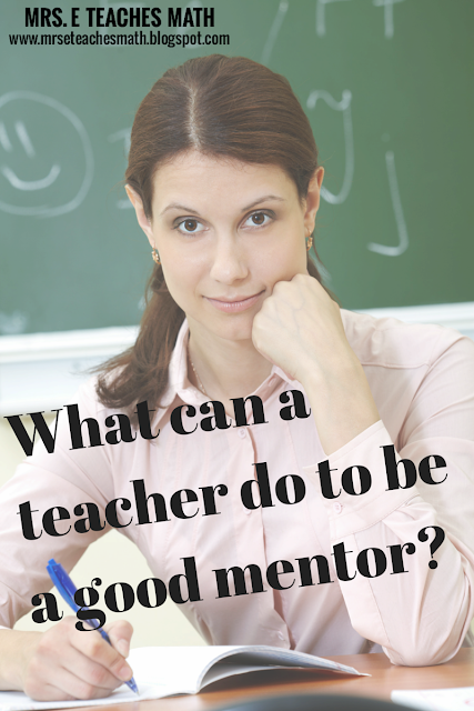 What can a teacher do to be a good mentor?  Lots of ideas from new and veteran teachers
