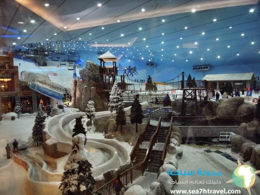 روعة التزلج على الثلج بسكي دبي Ski Dubai