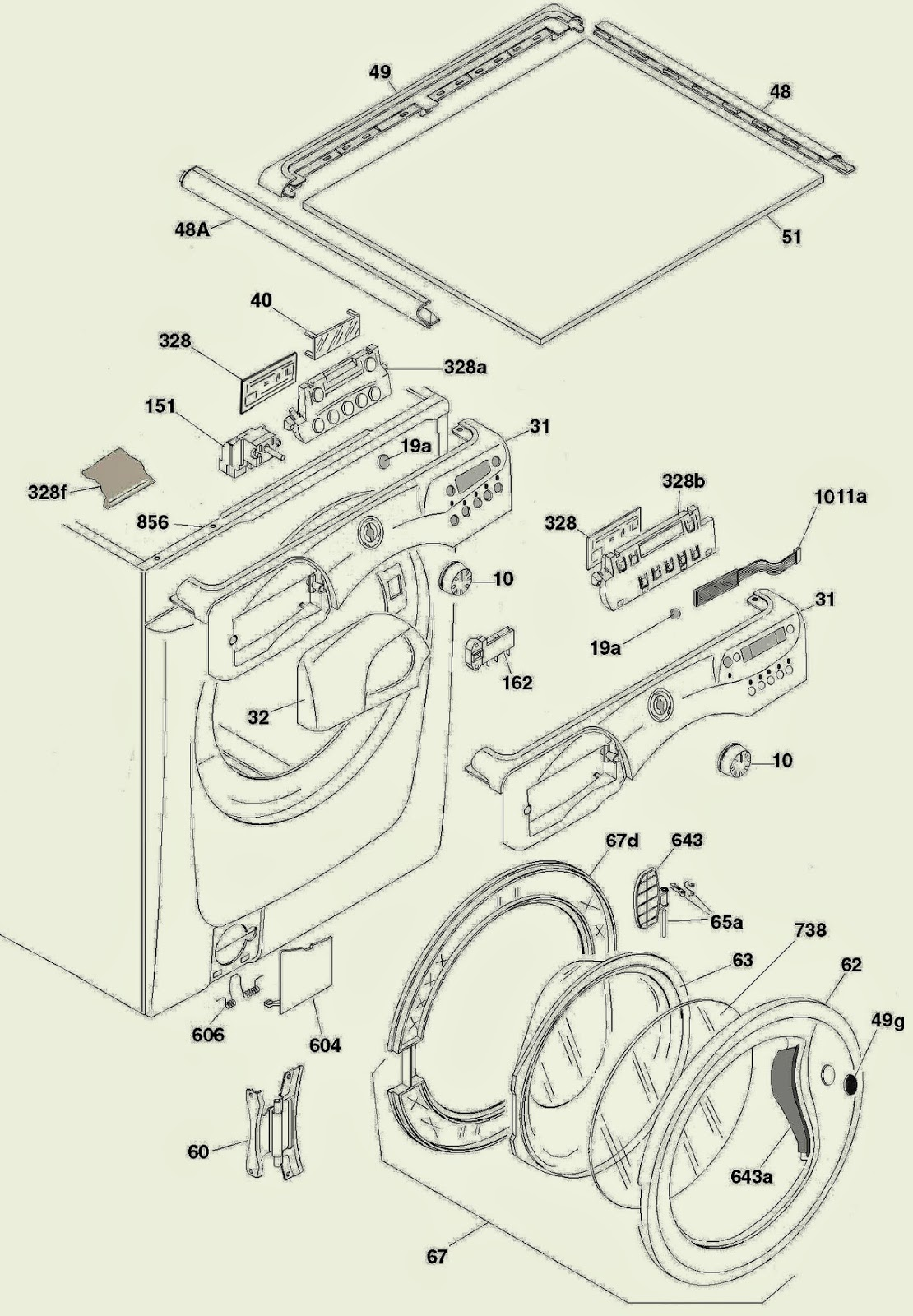Hoover Vhd 812 Washing Machine Washer Dryer Disassemble Parts Wiring Diagram