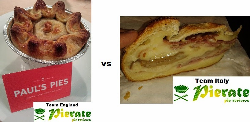 Football World Cup Pie Review England v Italy