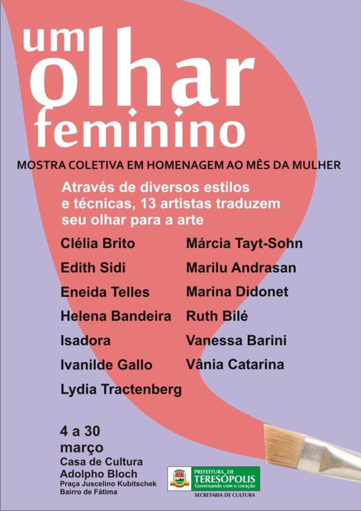Um Olhar Feminino na Casa de Cultura de Teresópolis
