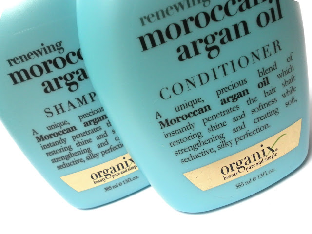 A picture of Organix Renewing Moroccan Argan Oil Shampoo and Conditioner