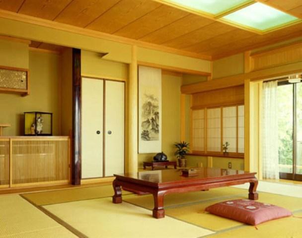 Desain ruang tamu minimalis ala tradisional jepang for Living room japanese style