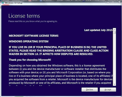 Windows 10 license agreement
