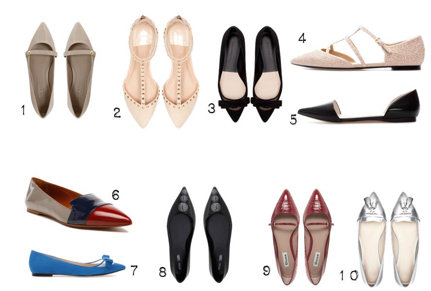 Zapatos planos con punta ¿te apuntas a esta tendencia?