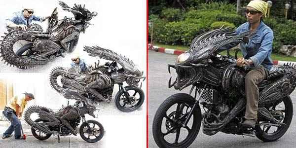 Motor Keren Berkonsep  Alien Vs Predator