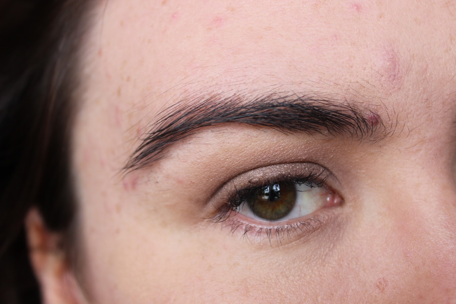 A brow gel with a colour