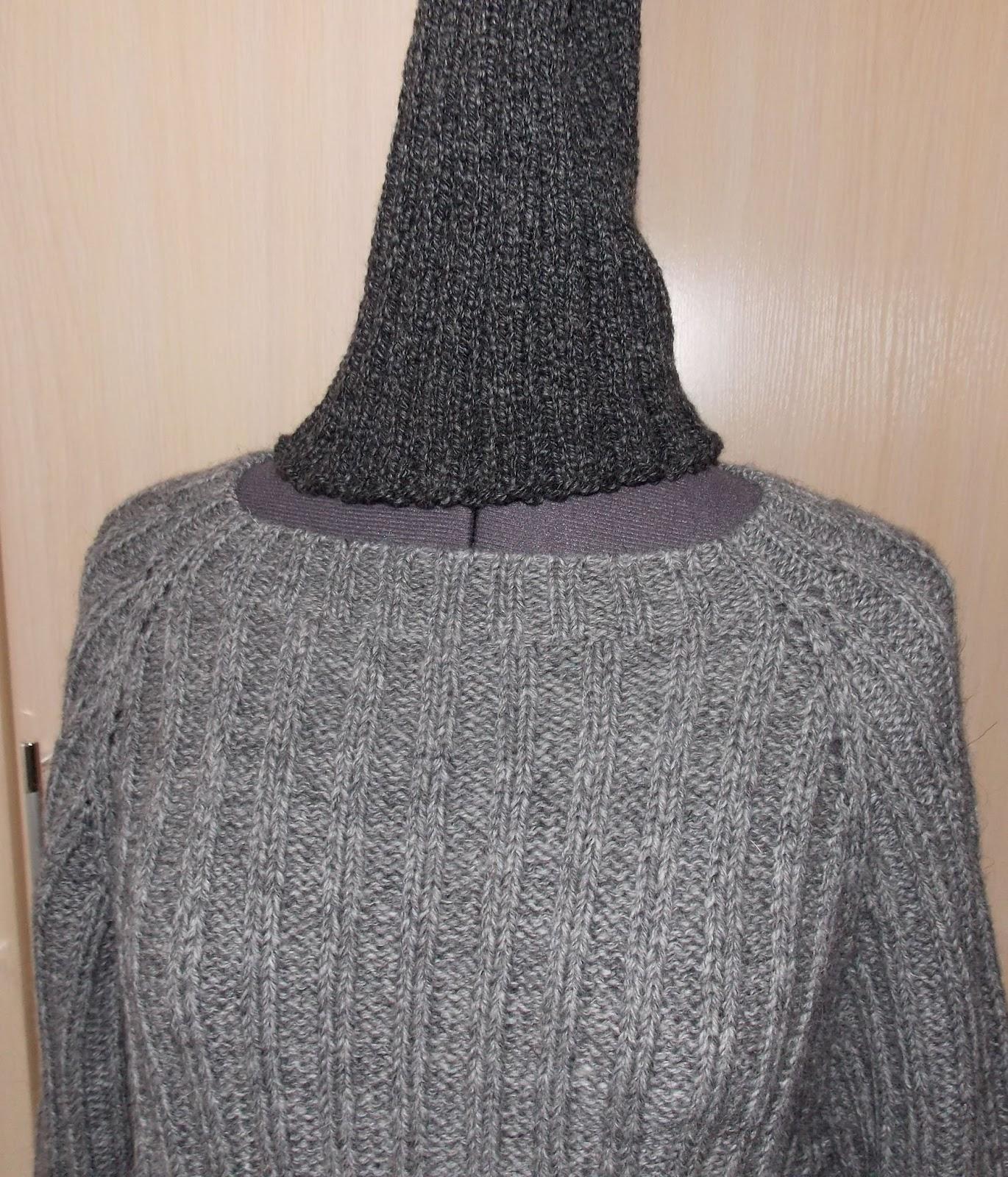 Вязание свитера на круговых спицах без шва 840
