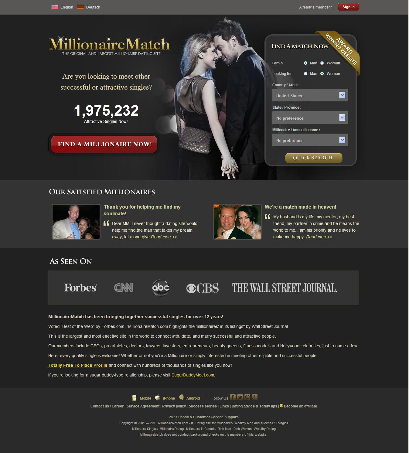 Online dating wealthy men