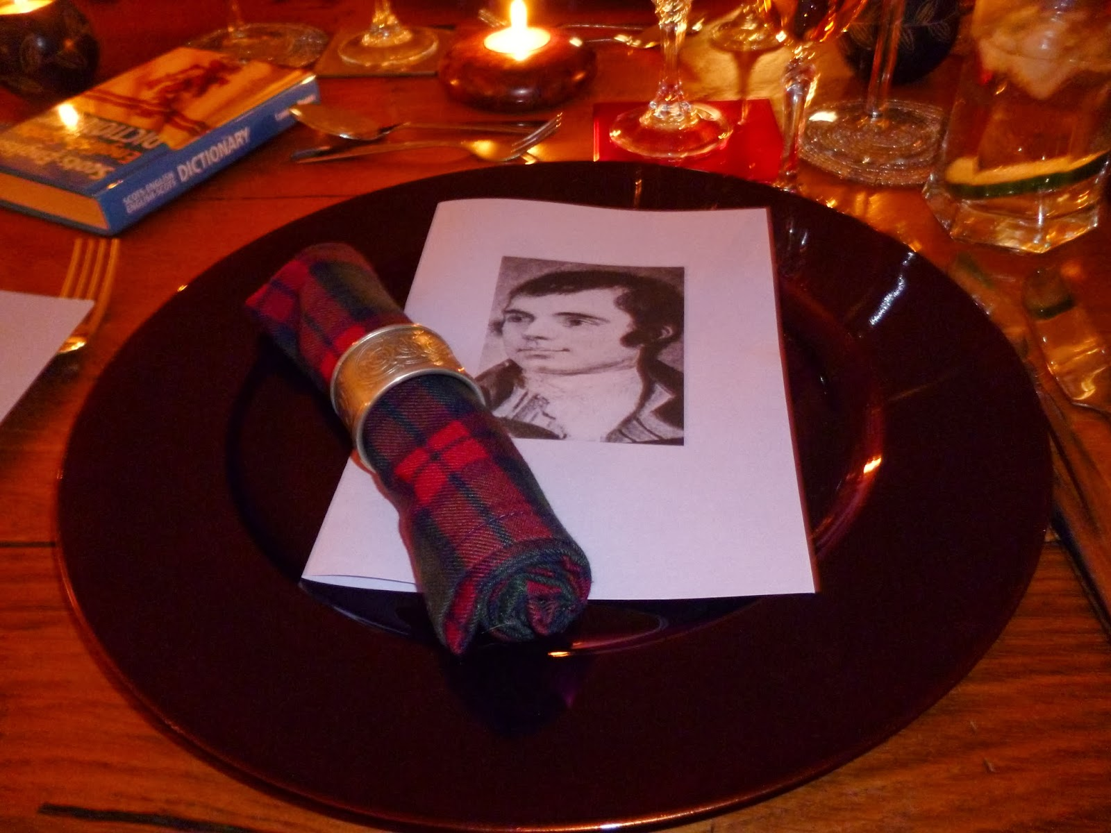 Table setting & My Rural French Life: Burns Night Supper...