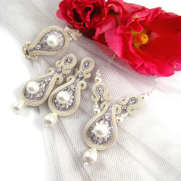 biżuteria ślubna sutasz ivory z cyrkoniami