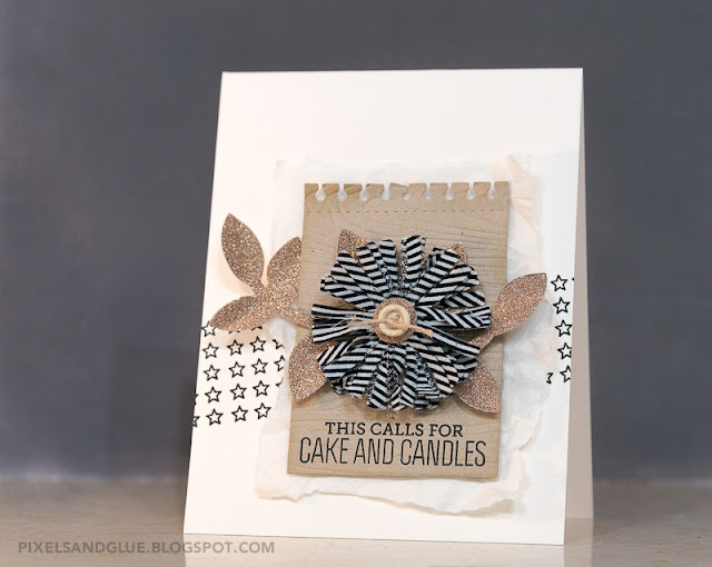 Birthday card by @pixnglue with a neutral color scheme