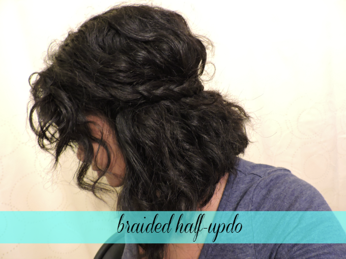 braided half-updo tutorial