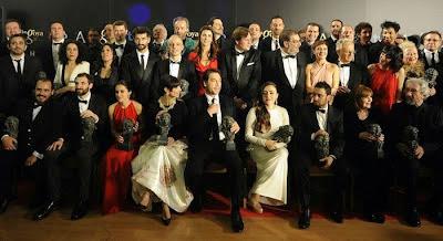 Ganadores de la edición de los Premios Goya 2013. Blancanieves obtuvo 10 premios