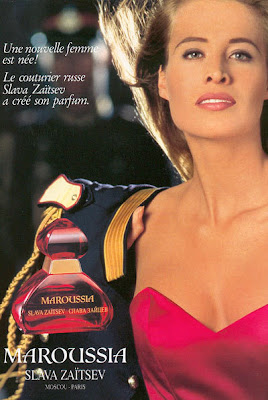 Anuncio de perfume Maroussia Slava Zaitsev