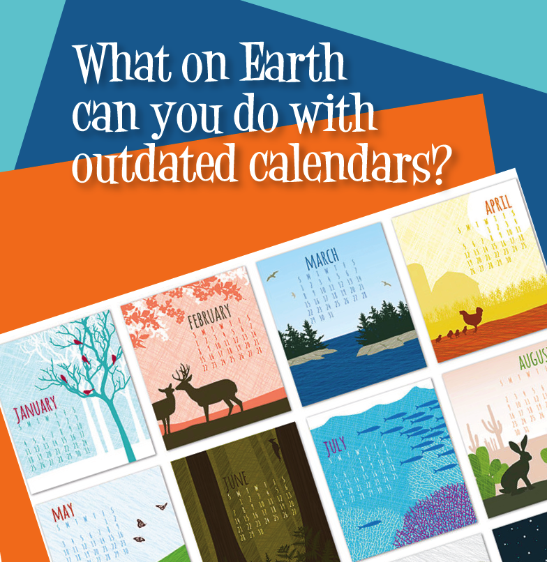 How to repurpose old calendars