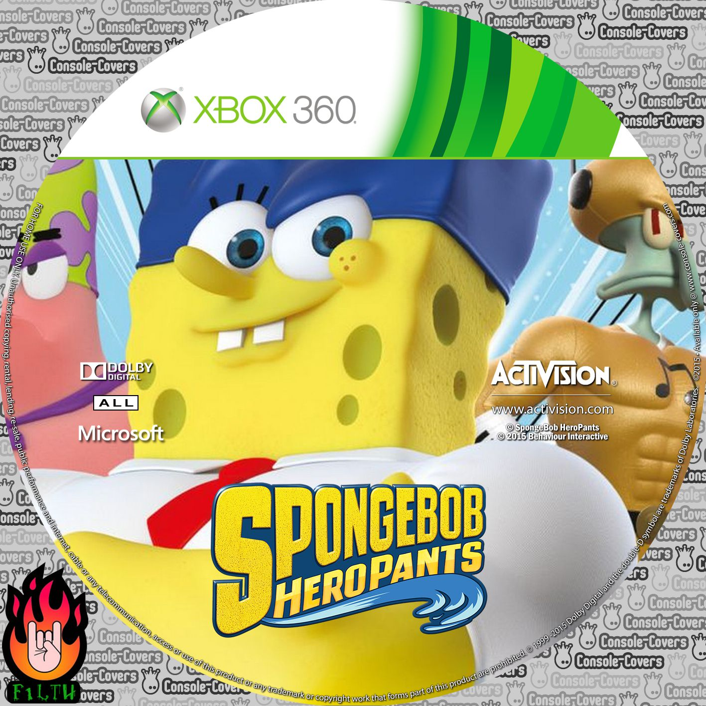 Label SpongeBob HeroPants Xbox 360