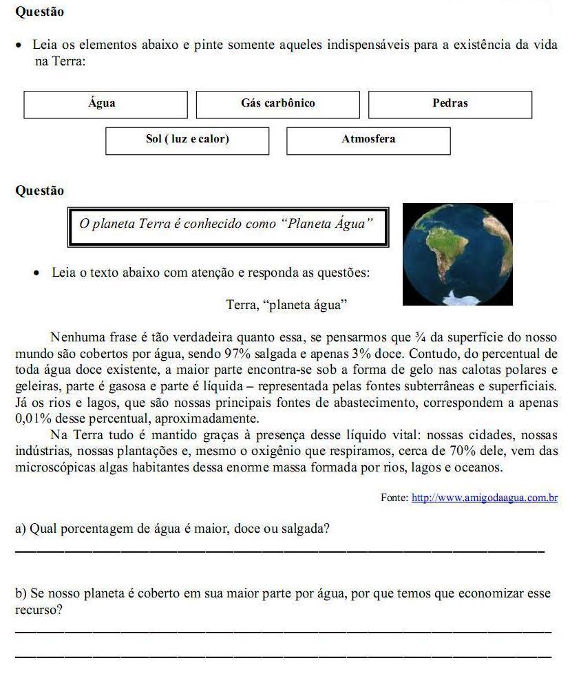 Atividade De Geografia Para O 4   Ano Do Ensino Fundamental