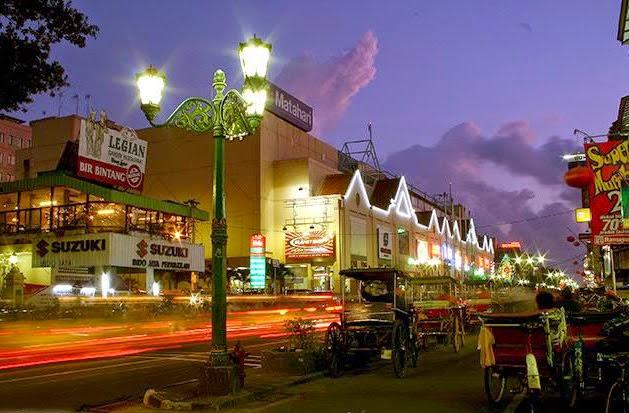 Malioboro, tempat tujuan objek wisata di yogyakarta dan sekitarnya