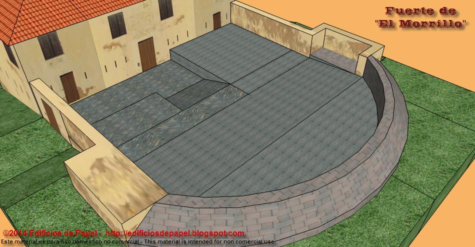 Detalle del patio de armas del fuerte