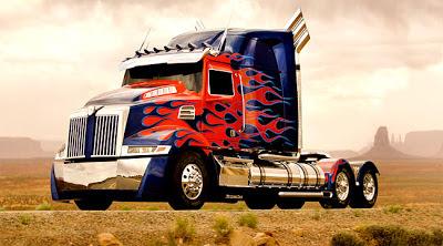 Gambar Truk Western Star, Optimus Prime